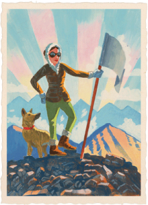 hiking custom illustration